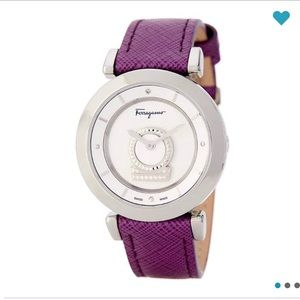 Ferragamo Watch Authentic Minuetto Diamond Quartz